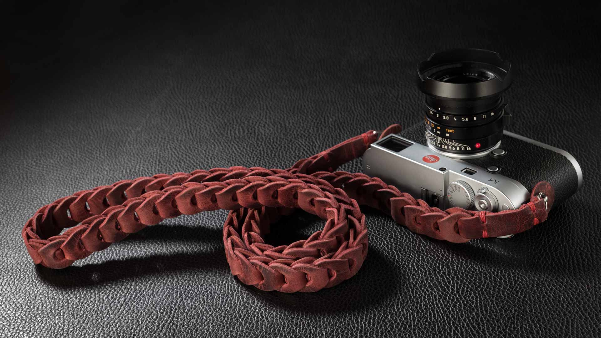 leica m strap, leather camera strap, handmade leather camera strap, vintage camera straps, leica camera strap, handmade camera strap, red camera strap, mirrorless camera strap
