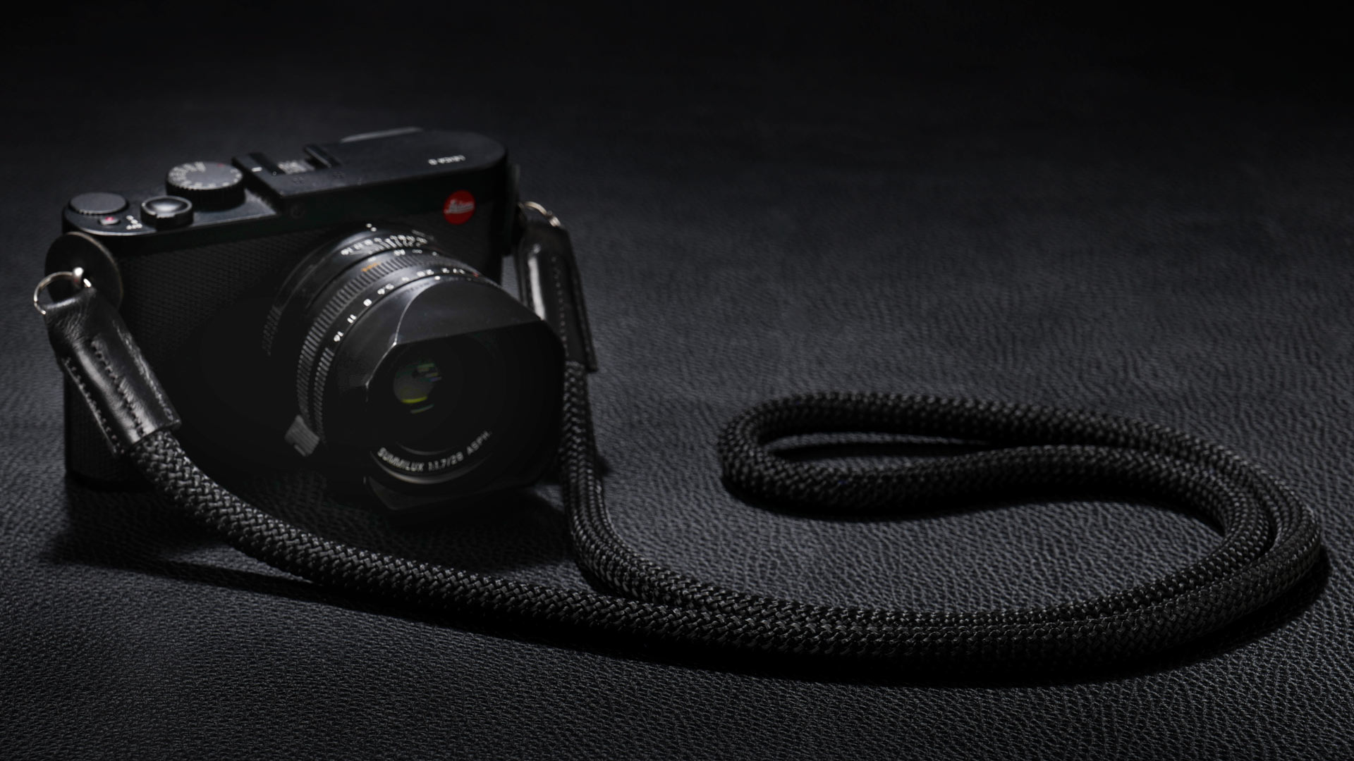 snake strap, rope strap, classic strap, rope camera strap, handmade leather camera strap, leica camera strap, mirrorless camera strap, handmade camera strap, dslr camera strap, black camera strap