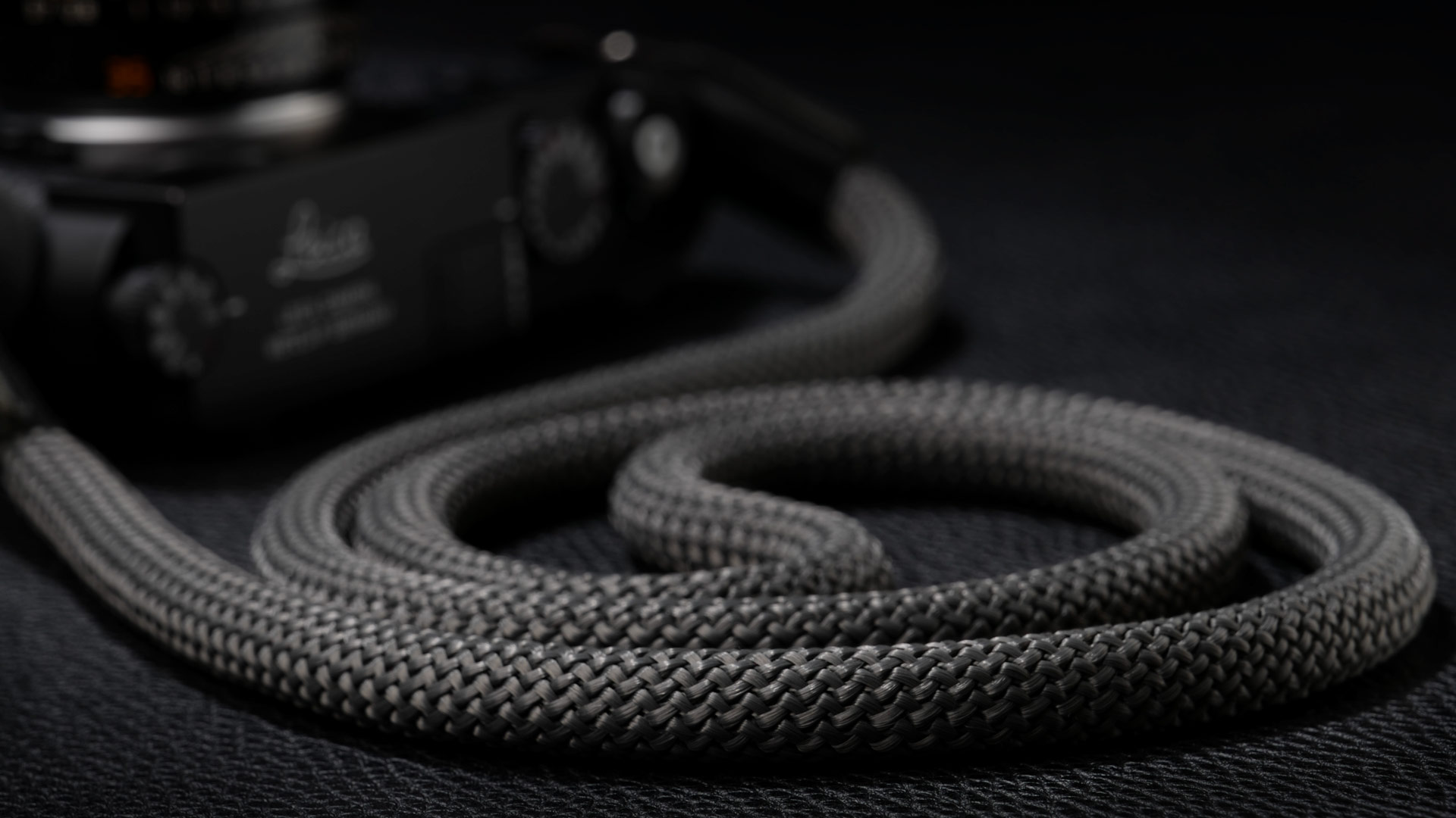 snake strap, rope strap, classic strap, rope camera strap, handmade leather camera strap, leica camera strap, mirrorless camera strap, handmade camera strap, dslr camera strap, grey camera strap