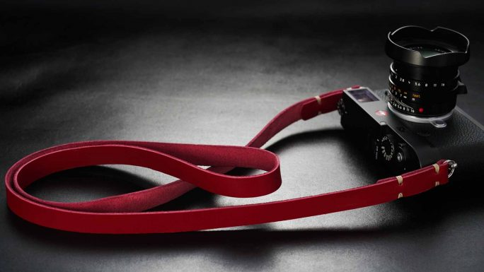 Classic Red, Leather Camera  Strap