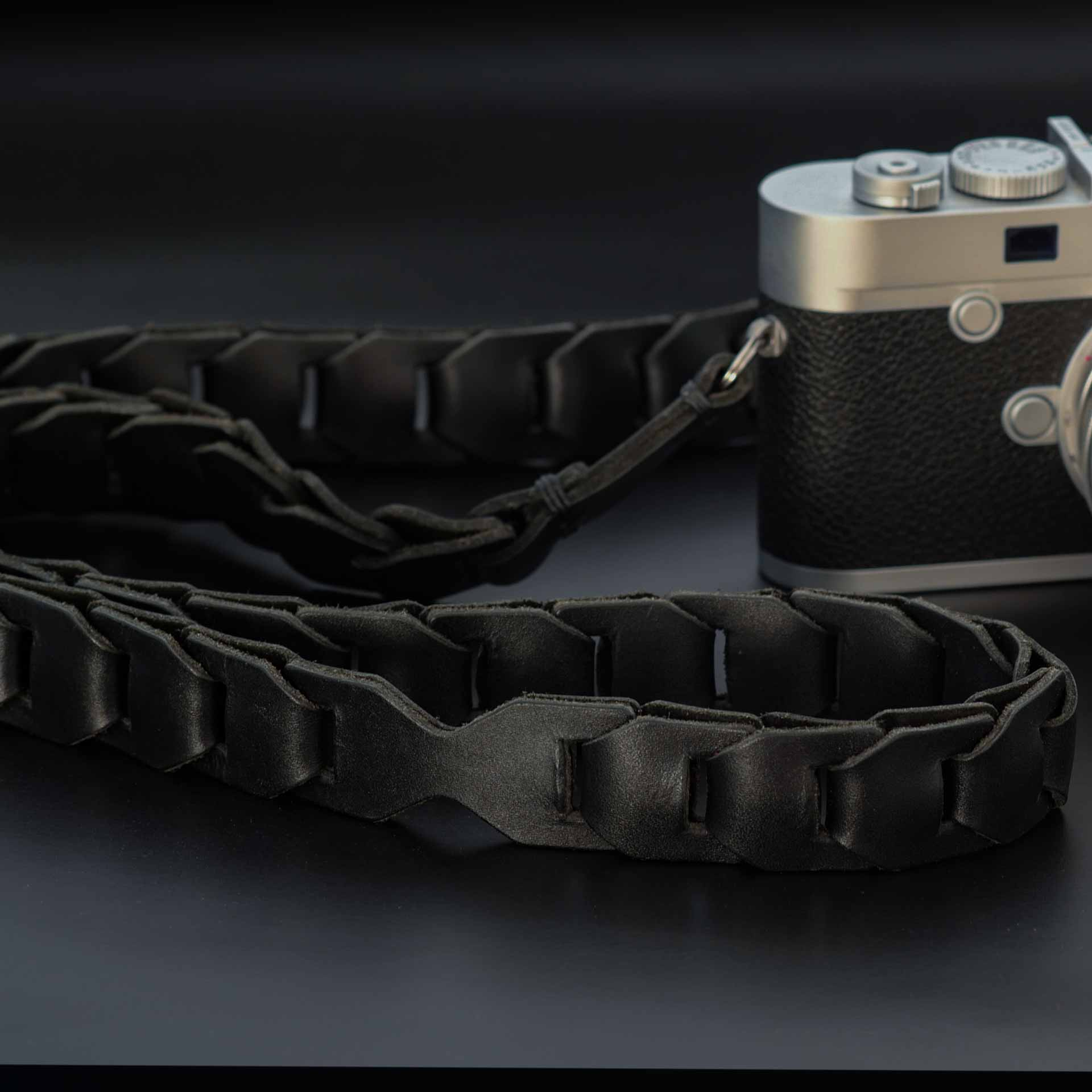 leica m strap, leather camera strap, handmade leather camera strap, leica camera strap, mirrorless camera strap, handmade camera strap, black camera strap