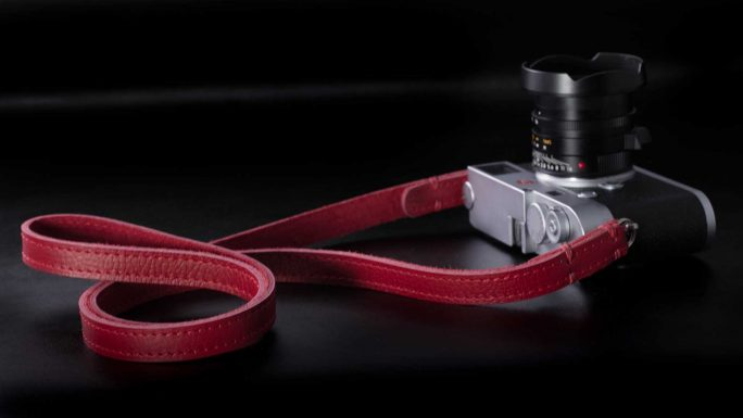 Riviera All Red Leather Camera Strap