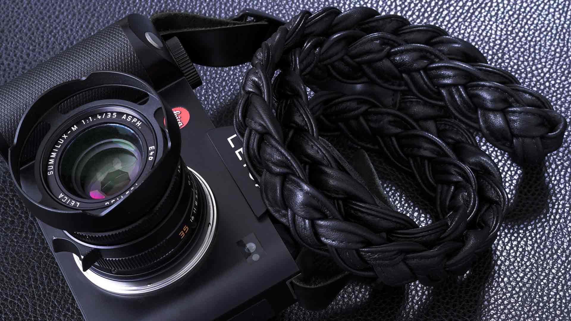 leica s strap, leica sl strap, leather camera strap, handmade leather camera strap, leica camera strap, mirrorless camera strap, handmade camera strap, black camera strap, braided camera strap