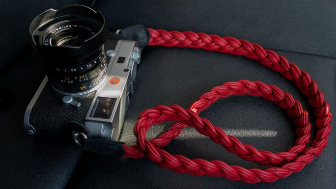 leica m strap, leather camera strap, handmade leather camera strap, leica camera strap, mirrorless camera strap, handmade camera strap, red camera strap, braided camera strap