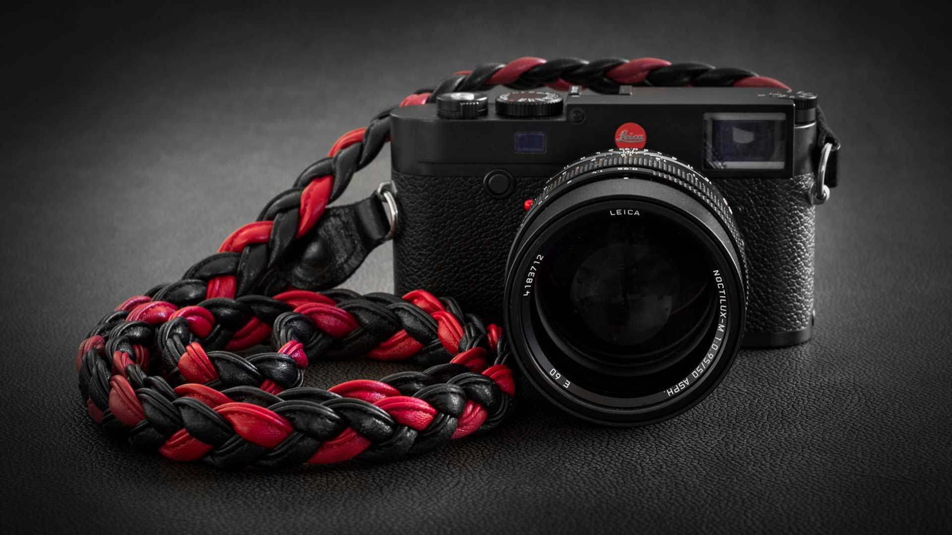 leica m strap, leather camera strap, handmade leather camera strap, leica camera strap, mirrorless camera strap, handmade camera strap, black camera strap, red camera strap, braided camera strap