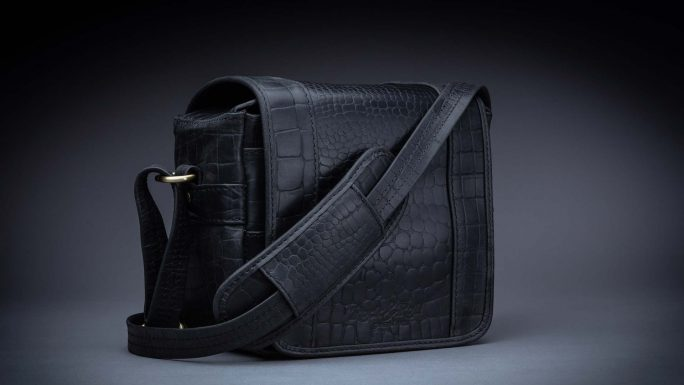 RIVIERA MINI M BLACK CROC