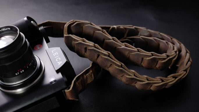 The Hendrix SL Cigar Brown, Leather Camera  Strap for Leica SL and Leica S